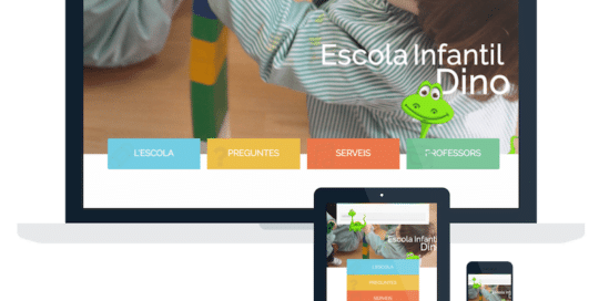 Página Web Escola Dino Barcelona