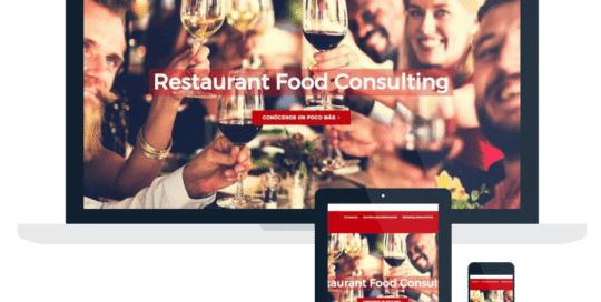 Página Web Restaurant Food Consulting