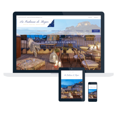 PÁGINA WEB LA INDIANA DE BEGUR HOTEL